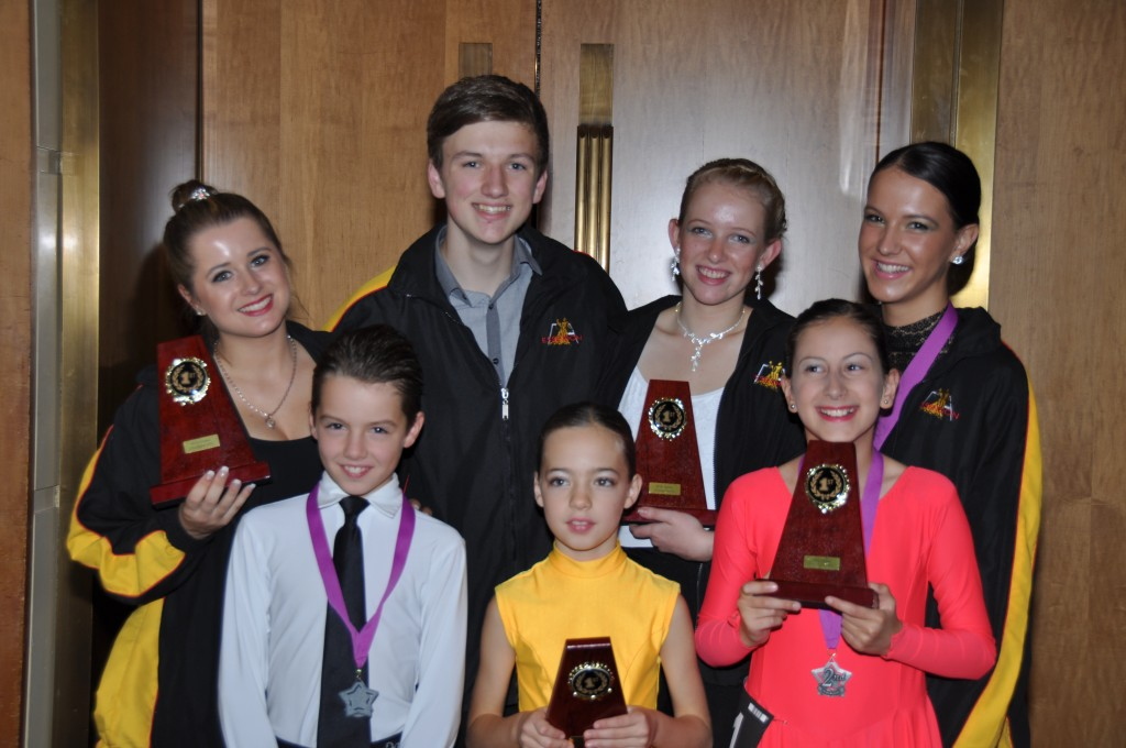 Laura, Clay, Sarah, Gordana, Jarraed, Saffron & Sarah Grace after Crown Championship April 2013