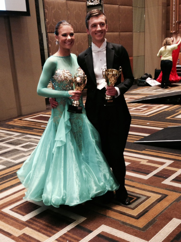 Clay & Phoebe happy after winning the New Vogue youth at Crown Championships April 2014