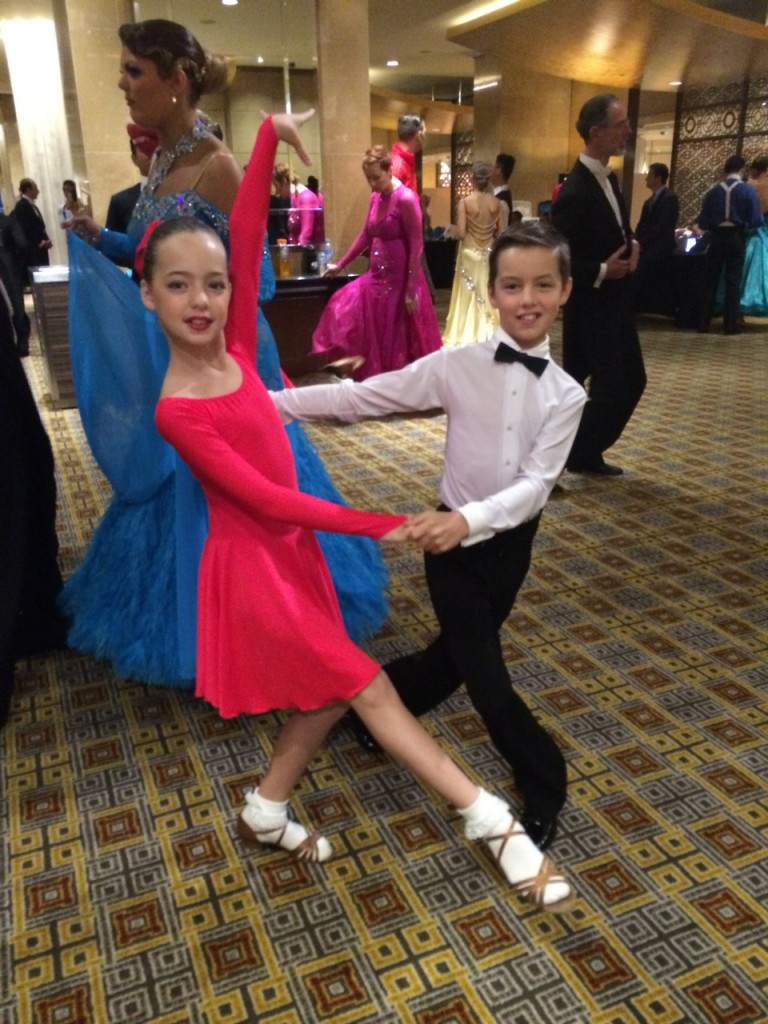 Jarraed & Saffron ready to dance Latin at Crown Championships April 2014